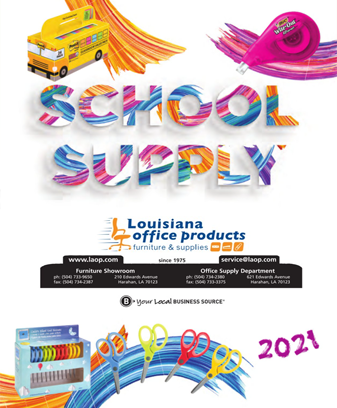 Click Here for 2021 School Supply Catalog